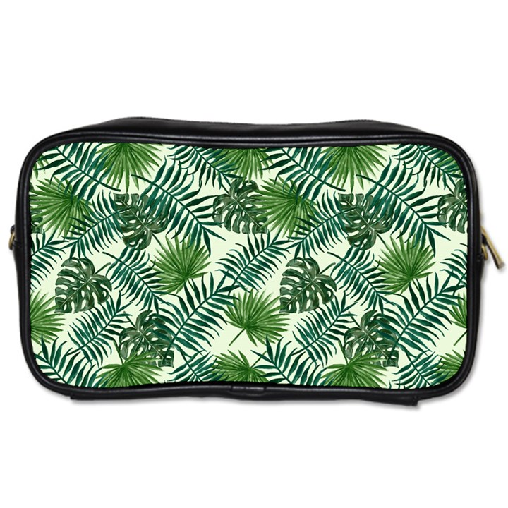 Leaves Tropical Wallpaper Foliage Toiletries Bag (One Side)
