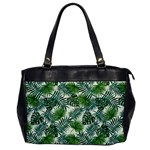 Leaves Tropical Wallpaper Foliage Oversize Office Handbag Front
