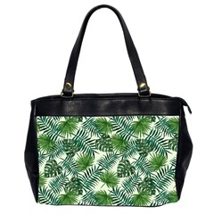 Leaves Tropical Wallpaper Foliage Oversize Office Handbag (2 Sides)
