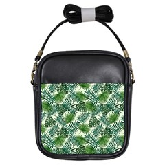 Leaves Tropical Wallpaper Foliage Girls Sling Bag