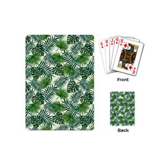 Leaves Tropical Wallpaper Foliage Playing Cards Single Design (Mini)