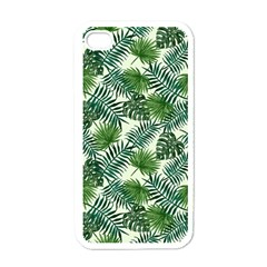 Leaves Tropical Wallpaper Foliage iPhone 4 Case (White)