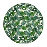 Leaves Tropical Wallpaper Foliage Round Filigree Ornament (Two Sides) Front