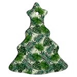 Leaves Tropical Wallpaper Foliage Christmas Tree Ornament (Two Sides) Front