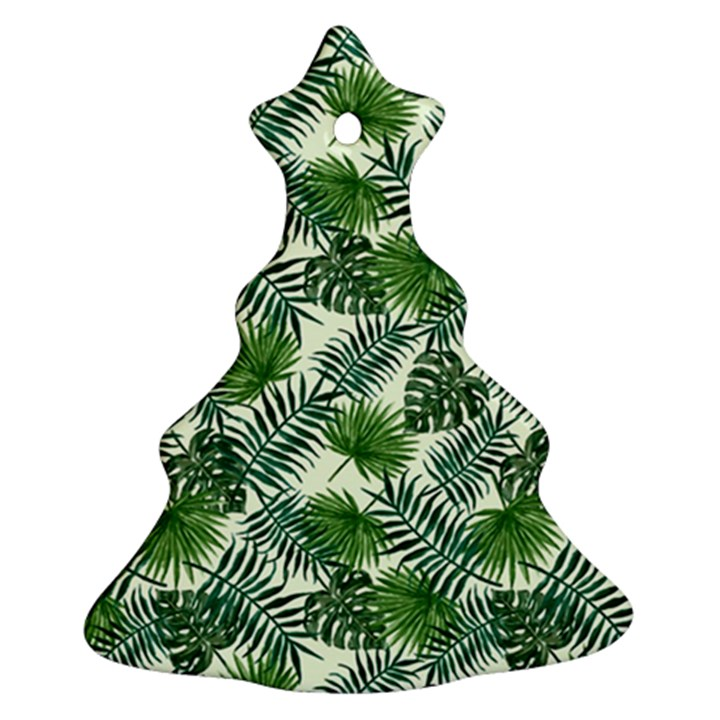 Leaves Tropical Wallpaper Foliage Christmas Tree Ornament (Two Sides)