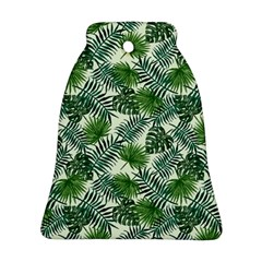 Leaves Tropical Wallpaper Foliage Bell Ornament (Two Sides)