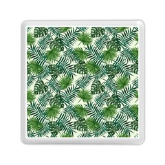 Leaves Tropical Wallpaper Foliage Memory Card Reader (Square)
