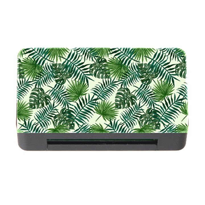 Leaves Tropical Wallpaper Foliage Memory Card Reader with CF