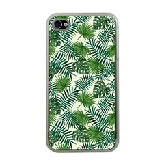 Leaves Tropical Wallpaper Foliage Iphone 4 Case (clear)