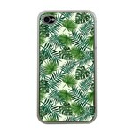 Leaves Tropical Wallpaper Foliage iPhone 4 Case (Clear) Front