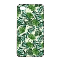 Leaves Tropical Wallpaper Foliage iPhone 4/4s Seamless Case (Black)