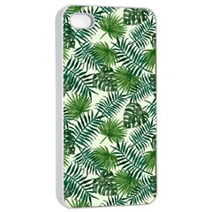 Leaves Tropical Wallpaper Foliage iPhone 4/4s Seamless Case (White)
