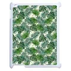 Leaves Tropical Wallpaper Foliage Apple iPad 2 Case (White)