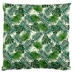 Leaves Tropical Wallpaper Foliage Large Cushion Case (Two Sides)