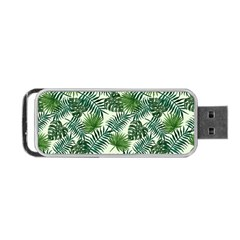 Leaves Tropical Wallpaper Foliage Portable USB Flash (One Side)