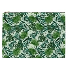 Leaves Tropical Wallpaper Foliage Cosmetic Bag (XXL)