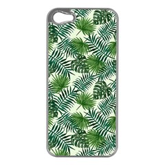 Leaves Tropical Wallpaper Foliage Iphone 5 Case (silver) by Pakrebo