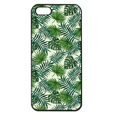 Leaves Tropical Wallpaper Foliage iPhone 5 Seamless Case (Black)