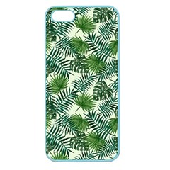 Leaves Tropical Wallpaper Foliage Apple Seamless iPhone 5 Case (Color)