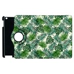 Leaves Tropical Wallpaper Foliage Apple iPad 3/4 Flip 360 Case Front