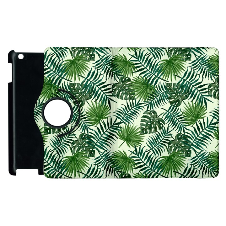 Leaves Tropical Wallpaper Foliage Apple iPad 3/4 Flip 360 Case