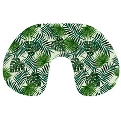 Leaves Tropical Wallpaper Foliage Travel Neck Pillow