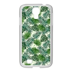 Leaves Tropical Wallpaper Foliage Samsung GALAXY S4 I9500/ I9505 Case (White)