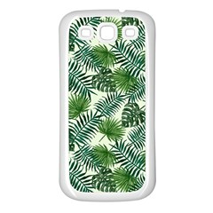 Leaves Tropical Wallpaper Foliage Samsung Galaxy S3 Back Case (White)