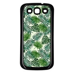 Leaves Tropical Wallpaper Foliage Samsung Galaxy S3 Back Case (Black)