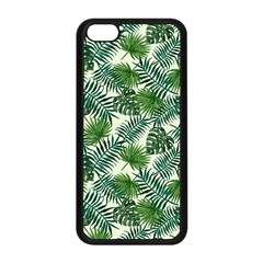 Leaves Tropical Wallpaper Foliage iPhone 5C Seamless Case (Black)