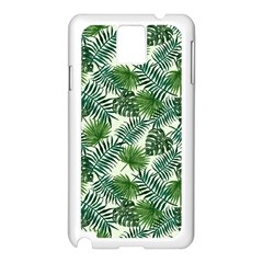 Leaves Tropical Wallpaper Foliage Samsung Galaxy Note 3 N9005 Case (White)