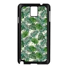 Leaves Tropical Wallpaper Foliage Samsung Galaxy Note 3 N9005 Case (Black)