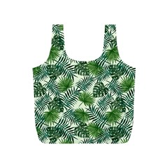 Leaves Tropical Wallpaper Foliage Full Print Recycle Bag (s) by Pakrebo