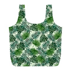 Leaves Tropical Wallpaper Foliage Full Print Recycle Bag (L)