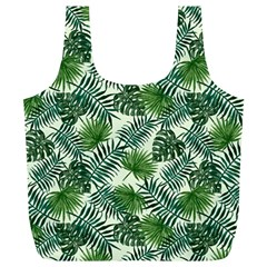 Leaves Tropical Wallpaper Foliage Full Print Recycle Bag (xl)