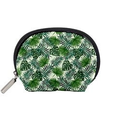 Leaves Tropical Wallpaper Foliage Accessory Pouch (Small)