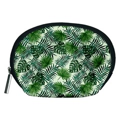 Leaves Tropical Wallpaper Foliage Accessory Pouch (Medium)