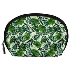 Leaves Tropical Wallpaper Foliage Accessory Pouch (Large)