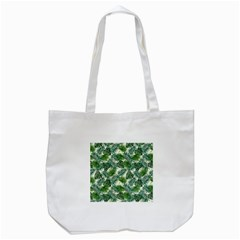 Leaves Tropical Wallpaper Foliage Tote Bag (White)