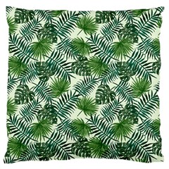 Leaves Tropical Wallpaper Foliage Large Flano Cushion Case (One Side)