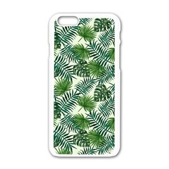 Leaves Tropical Wallpaper Foliage Iphone 6/6s White Enamel Case
