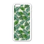 Leaves Tropical Wallpaper Foliage iPhone 6/6S White Enamel Case Front