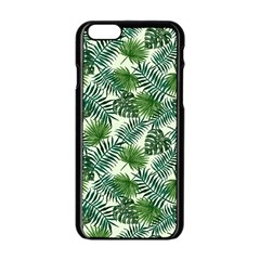Leaves Tropical Wallpaper Foliage iPhone 6/6S Black Enamel Case