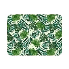 Leaves Tropical Wallpaper Foliage Double Sided Flano Blanket (Mini)