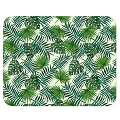 Leaves Tropical Wallpaper Foliage Double Sided Flano Blanket (Medium)