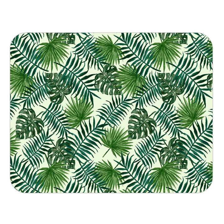 Leaves Tropical Wallpaper Foliage Double Sided Flano Blanket (Large)