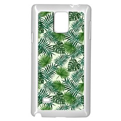Leaves Tropical Wallpaper Foliage Samsung Galaxy Note 4 Case (White)