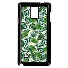 Leaves Tropical Wallpaper Foliage Samsung Galaxy Note 4 Case (Black)