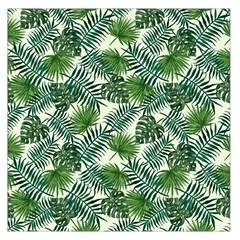 Leaves Tropical Wallpaper Foliage Large Satin Scarf (Square)