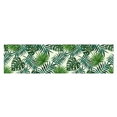 Leaves Tropical Wallpaper Foliage Satin Scarf (Oblong)